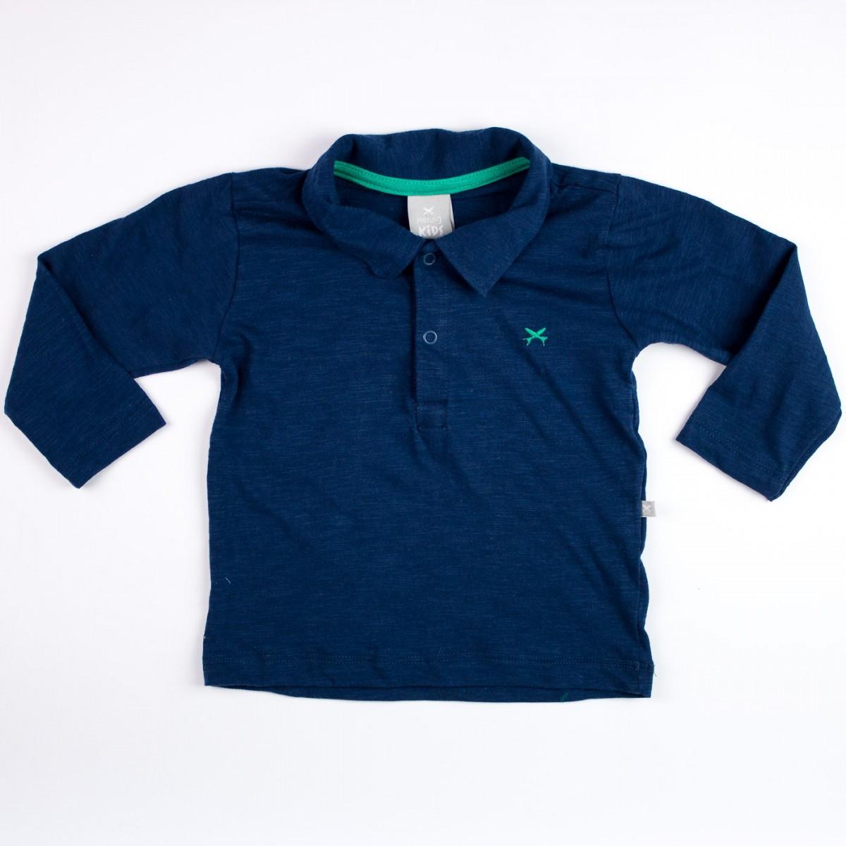 938fe8c579873 Bizz Store - Camiseta Polo Infantil Masculina Hering Kids Marinho