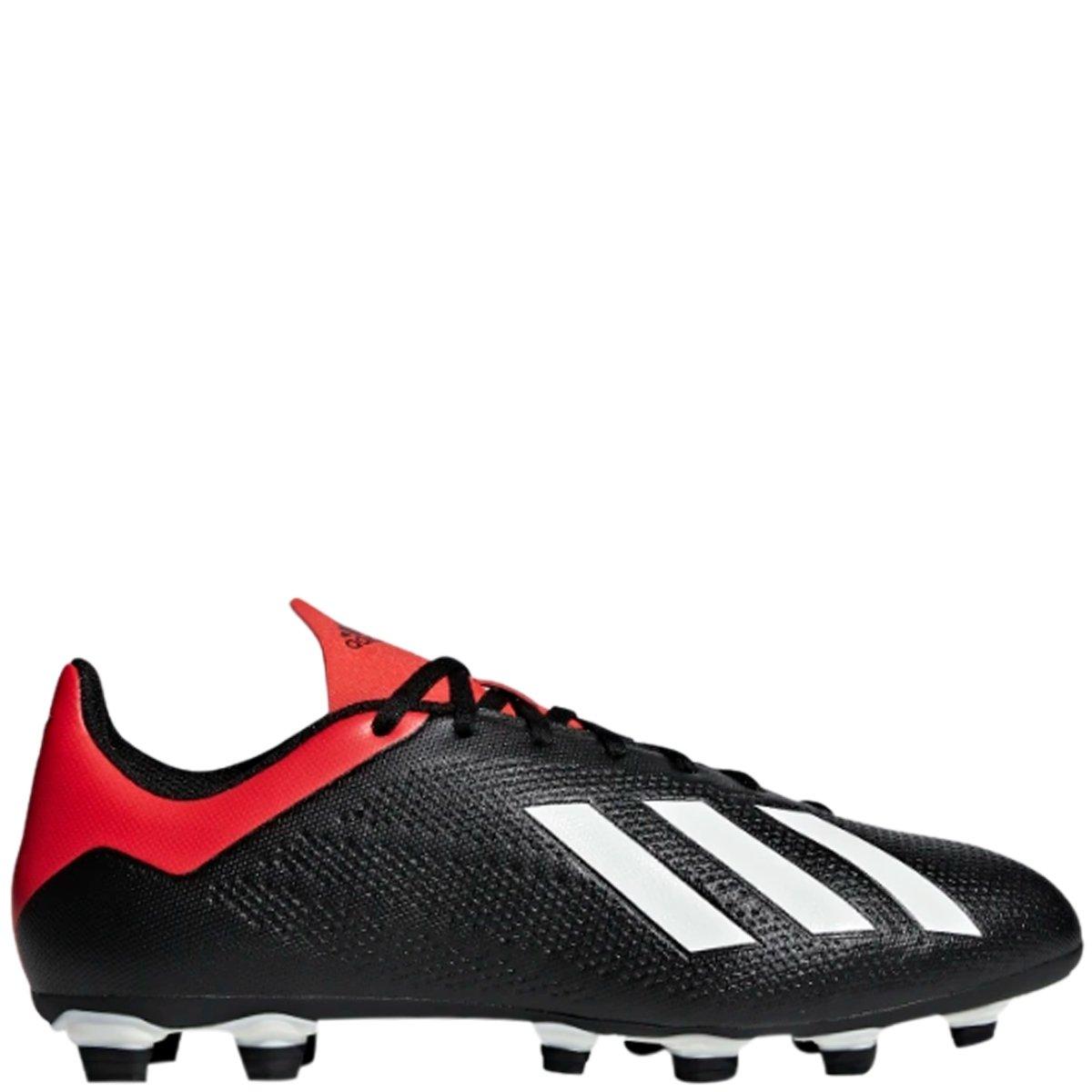 d5eb47e0f81cd Chuteira Futebol de Campo Adidas X 18.4 FG - Preto/Vermelho | Bizz Store