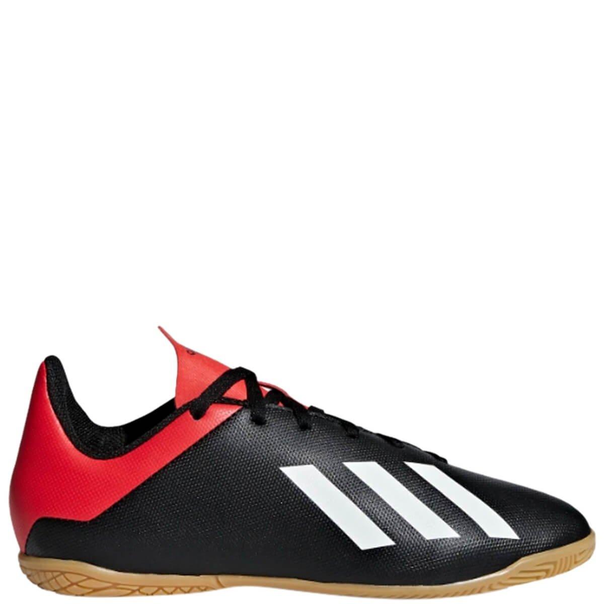 36f874c8a9 Chuteira Infantil Futsal Adidas X 18.4 Bb9409 - Preto Vermelho ...