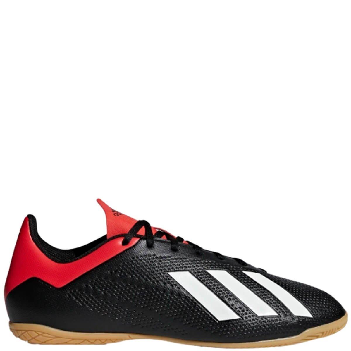 f3f8345b4d4c4 Chuteira Masculina Futsal Adidas X 18.4 Bb9405 - Preto/Vermelho   Bizz Store