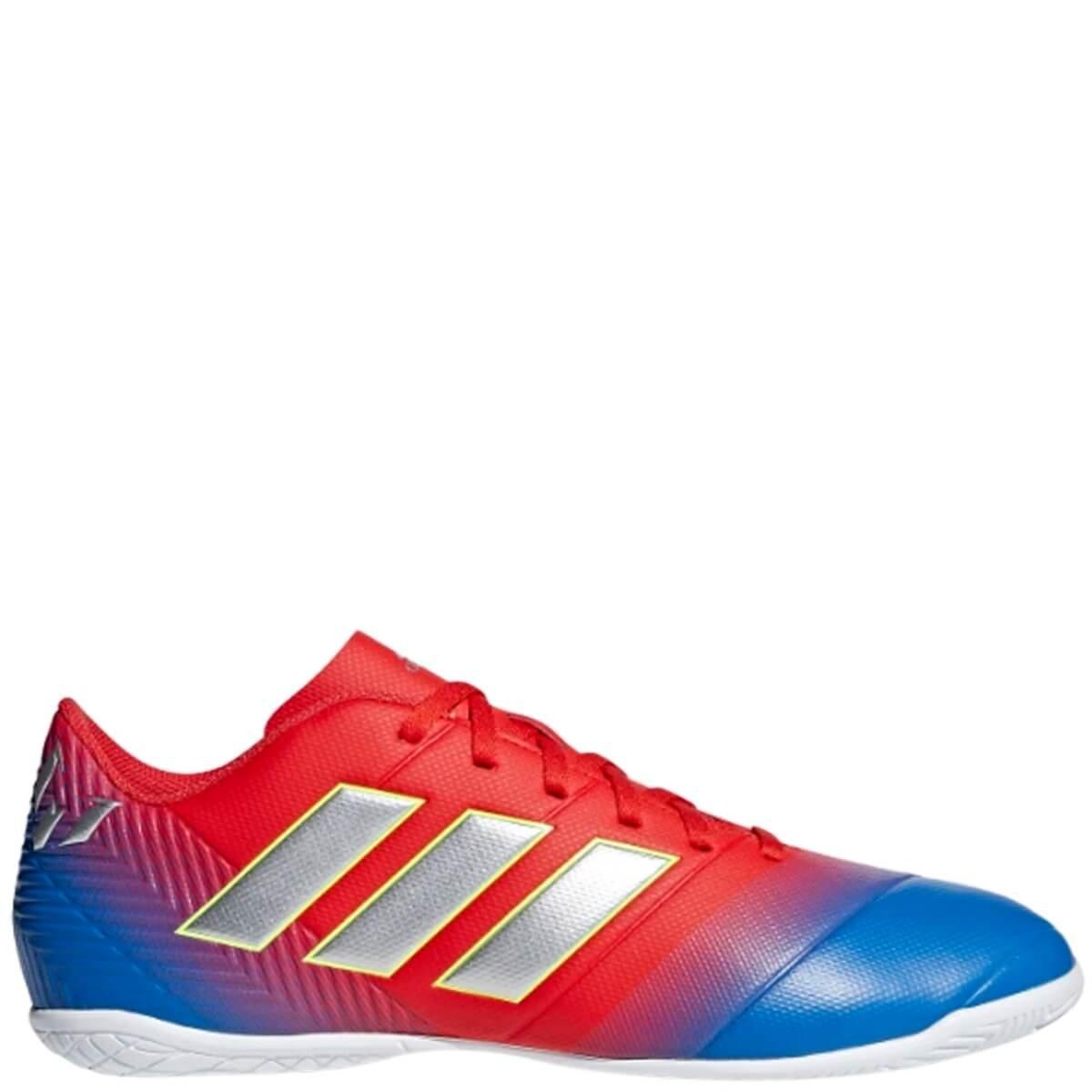 Chuteira Futsal Masculina Adidas Nemeziz Messi 18.4 D97264 - Azul Vermelho   e58c39b69bce7