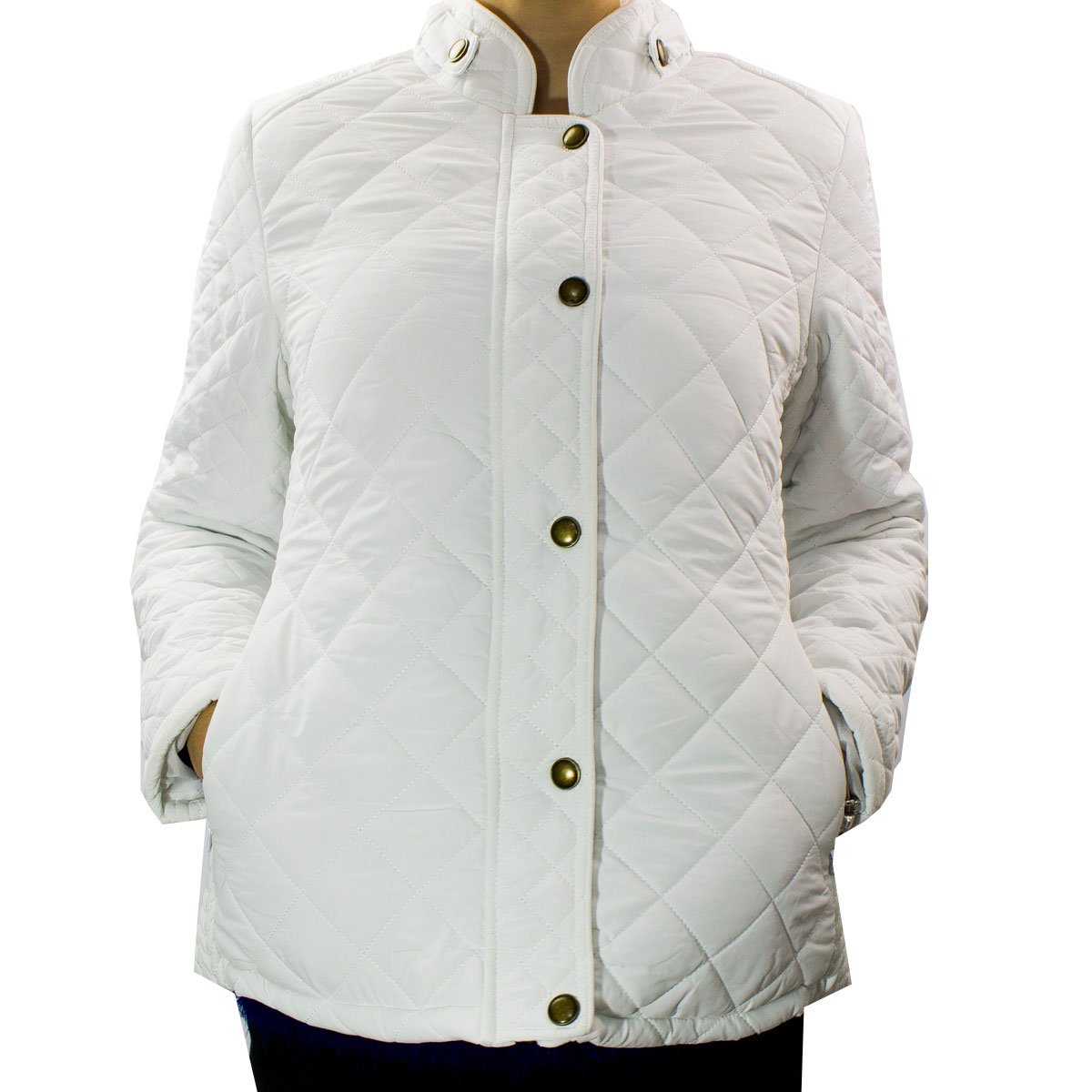 Bizz Store - Casaco Com Pelo Feminino Mosaico VIP Branco 516ae7bdb81c9