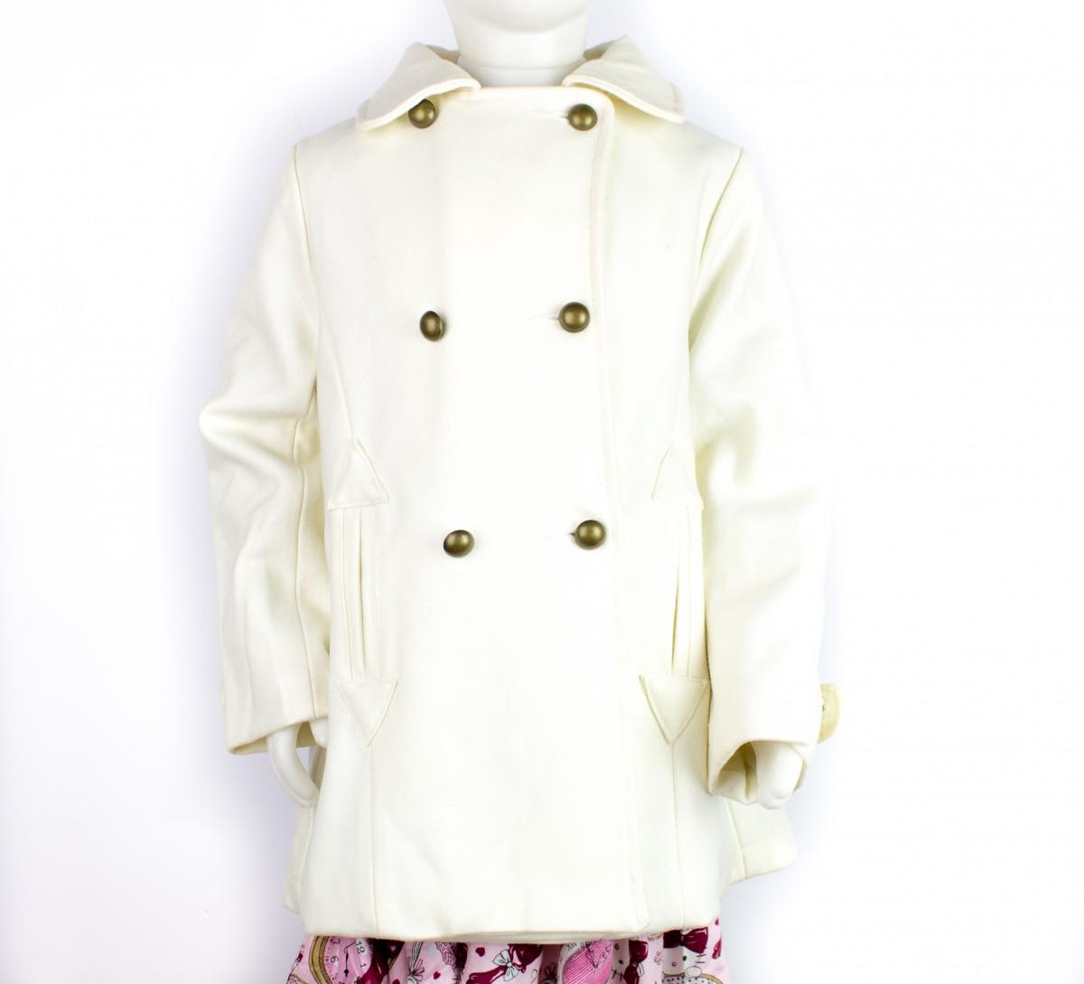 99d10fd75 Bizz Store - Casaco de Lã Infantil Feminino Tip Top Branco Neve