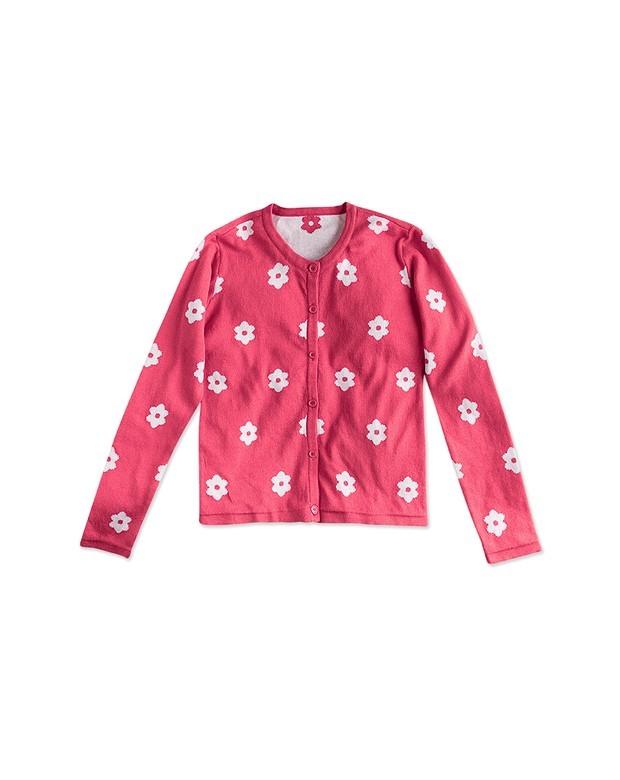 a695937c13 Bizz Store - Casaco Infantil Feminino Hering Kids Rosa Manga Longa