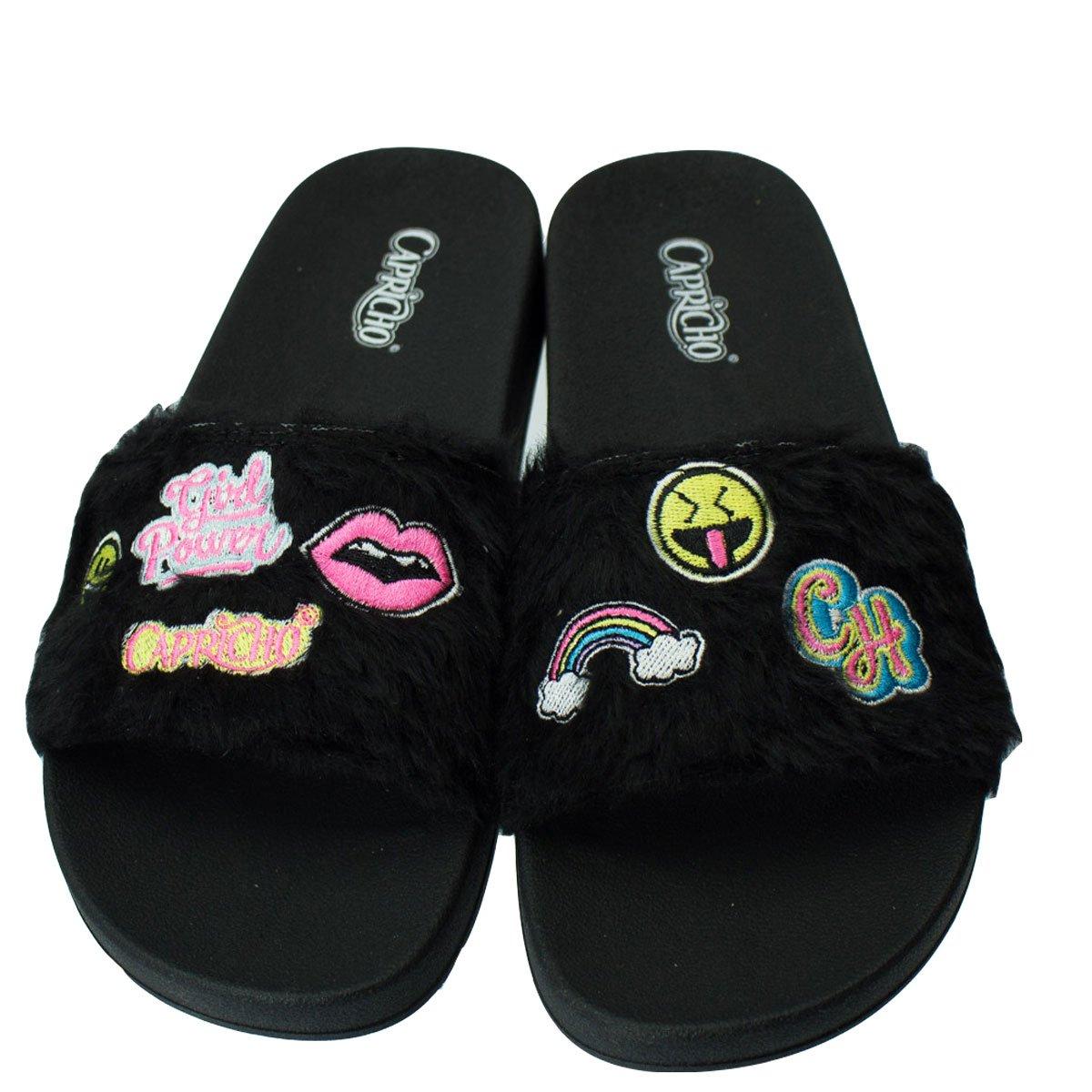 d0175494c0 Bizz Store - Chinelo Slide Feminino Capricho Pelo Patches