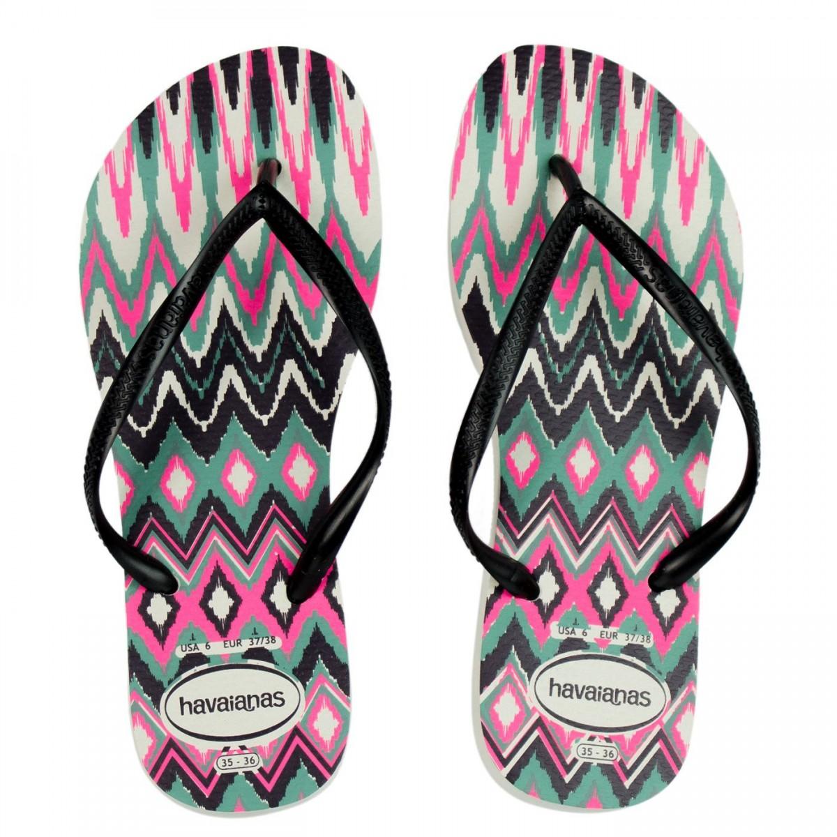 ded127177d Bizz Store - Chinelo Feminino Havaianas Slim Tribal Pink Étnico