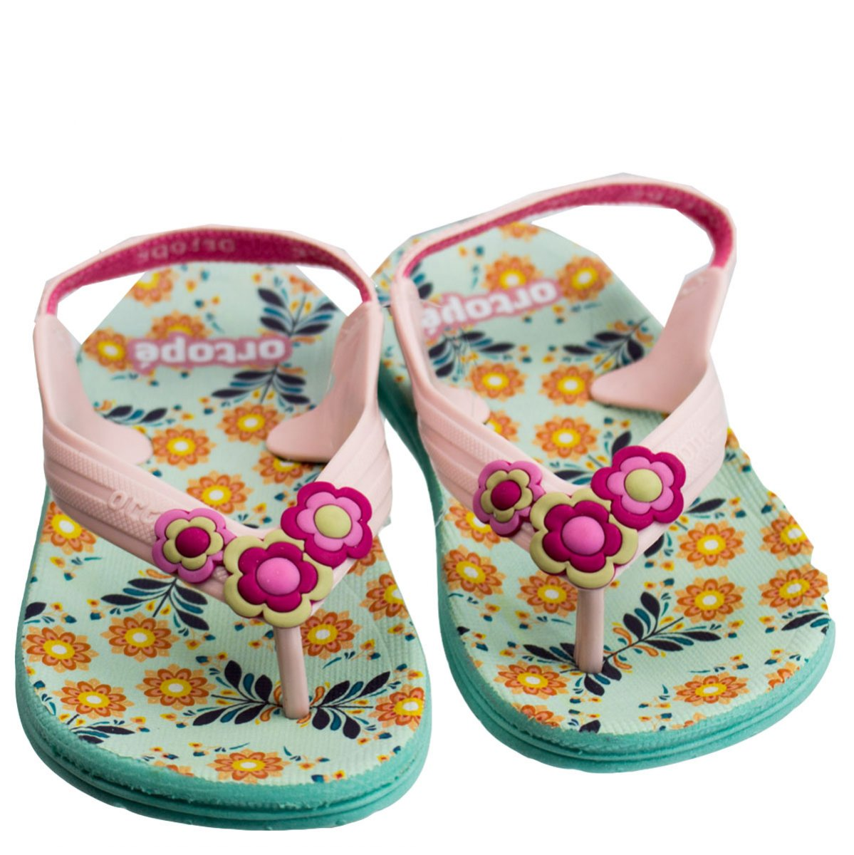 605a0bf483 Bizz Store - Chinelo Infantil Feminino Ortopé Aqua Flex PVC Pink