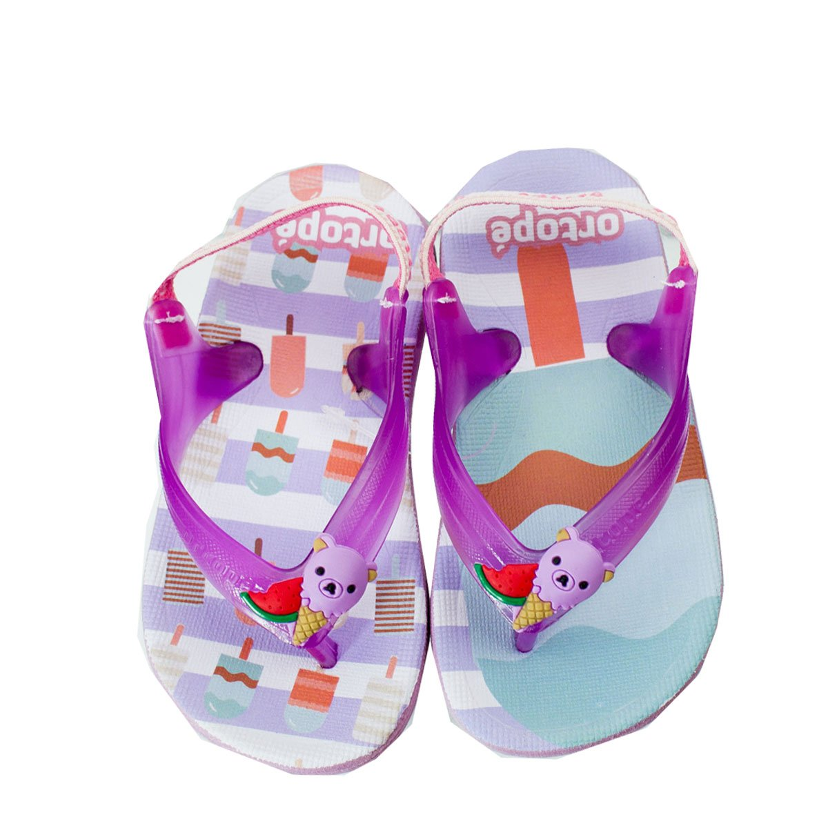 b30ee3bc0bbdc Bizz Store - Chinelo Infantil Feminino Ortopé Aqua Flex PVC Pink