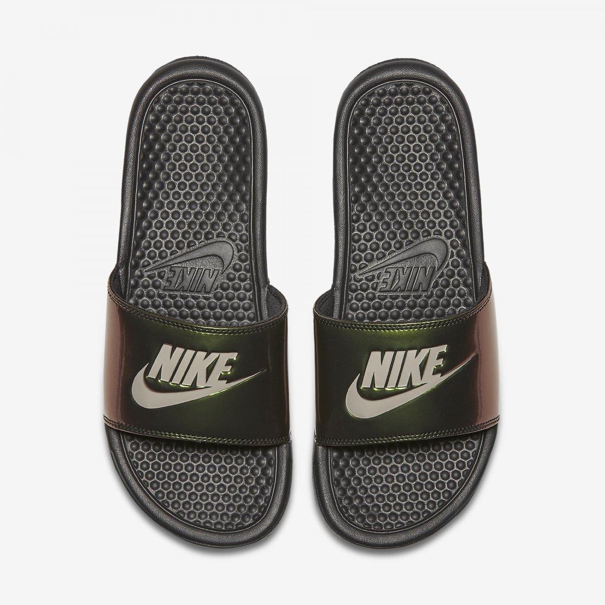 3bac04f07d7860 Chinelo Slide Nike Benassi Just Do It Print 618919-012