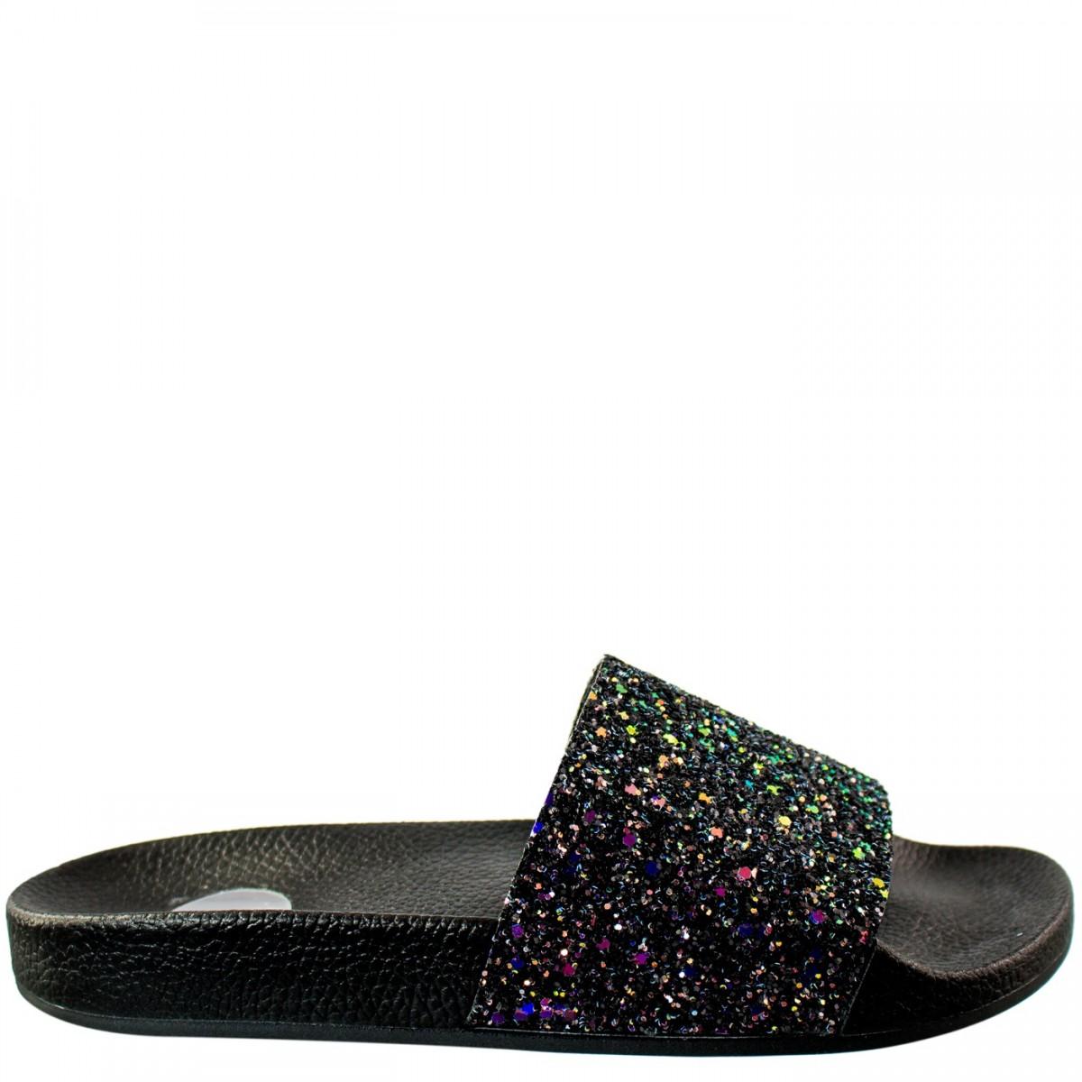 19bcf7de6 Bizz Store - Chinelo Slide Feminino Vizzano Maxi Glitter Metalizado