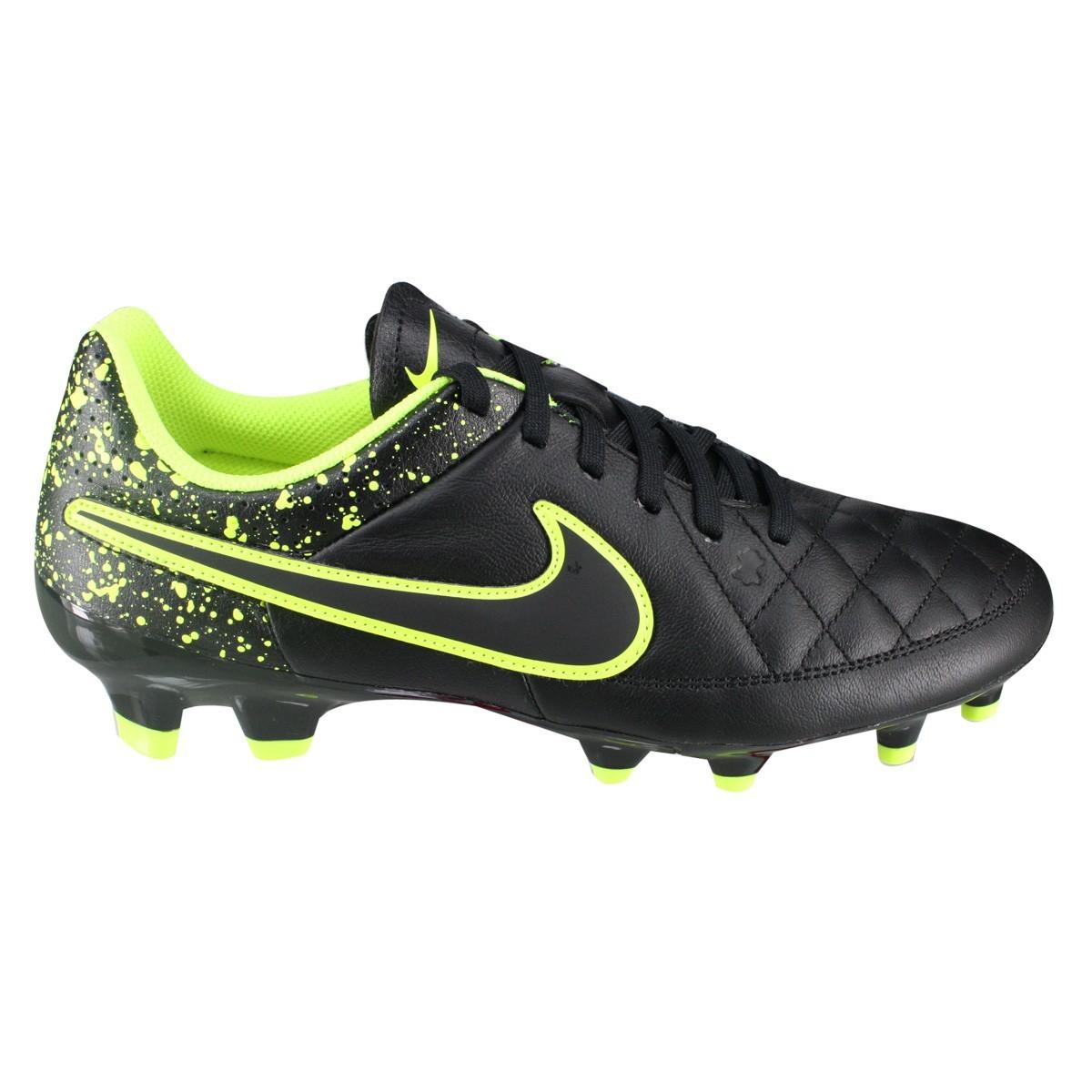 d307545a24050 Chuteira Futebol de Campo Nike 631282-010 - Preto/verde   Bizz Store