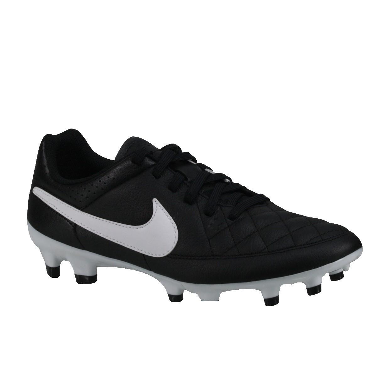 776536ca4c529 Chuteira Futebol de Campo Nike 631282-010 - Preto/branco   Bizz Store