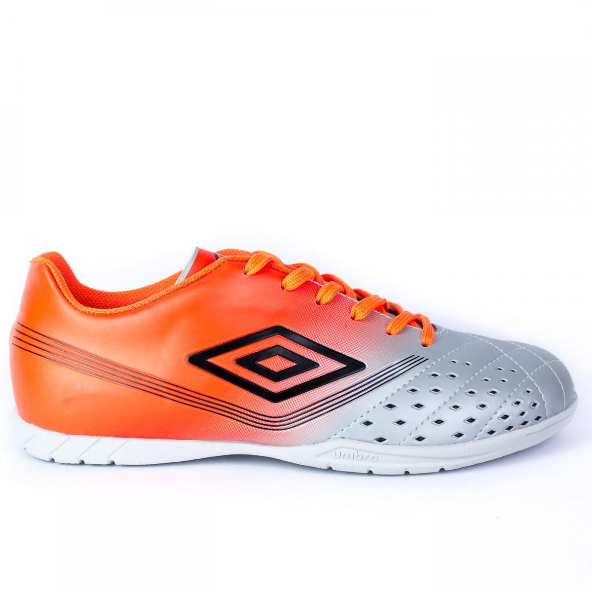 17f12a4b63 Bizz Store - Chuteira Futsal Umbro Fifty Indoor Laranja Cinza