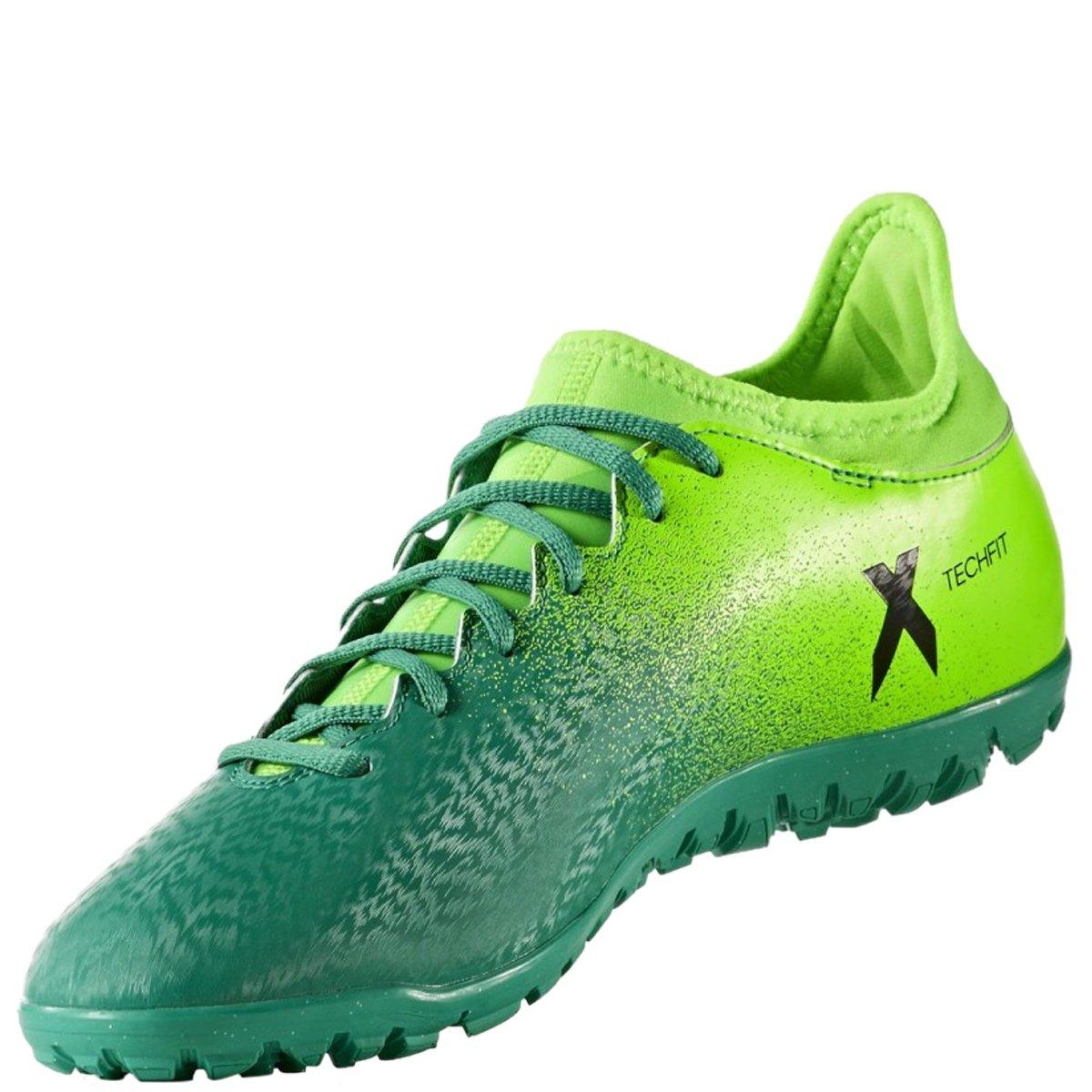 Bizz Store - Chuteira Society Adidas X 16.3 TF Masculina Verde dccc937d545c0
