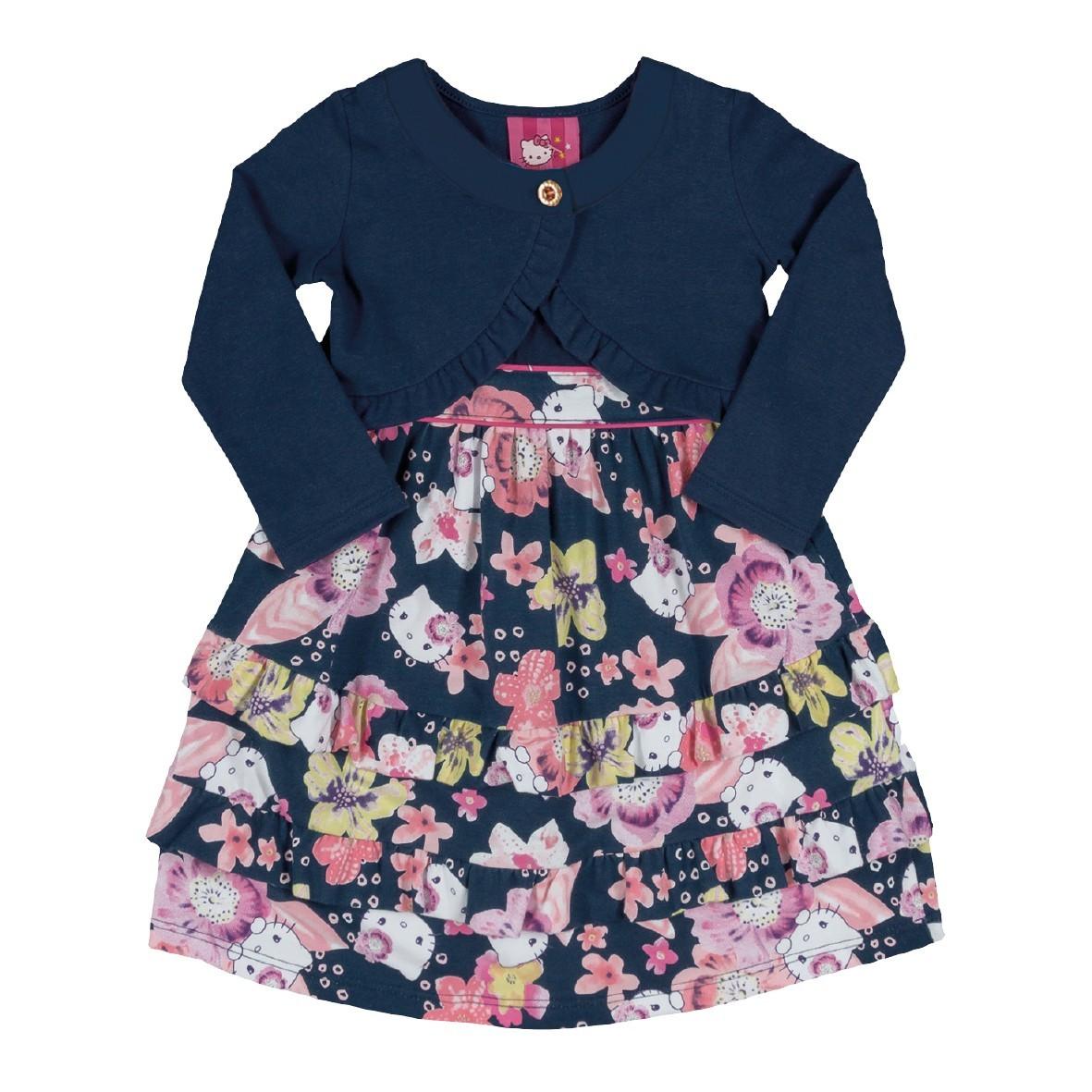 0f5555277c Bizz Store - Conjunto Infantil Feminino Hello Kitty Vestido Bolero