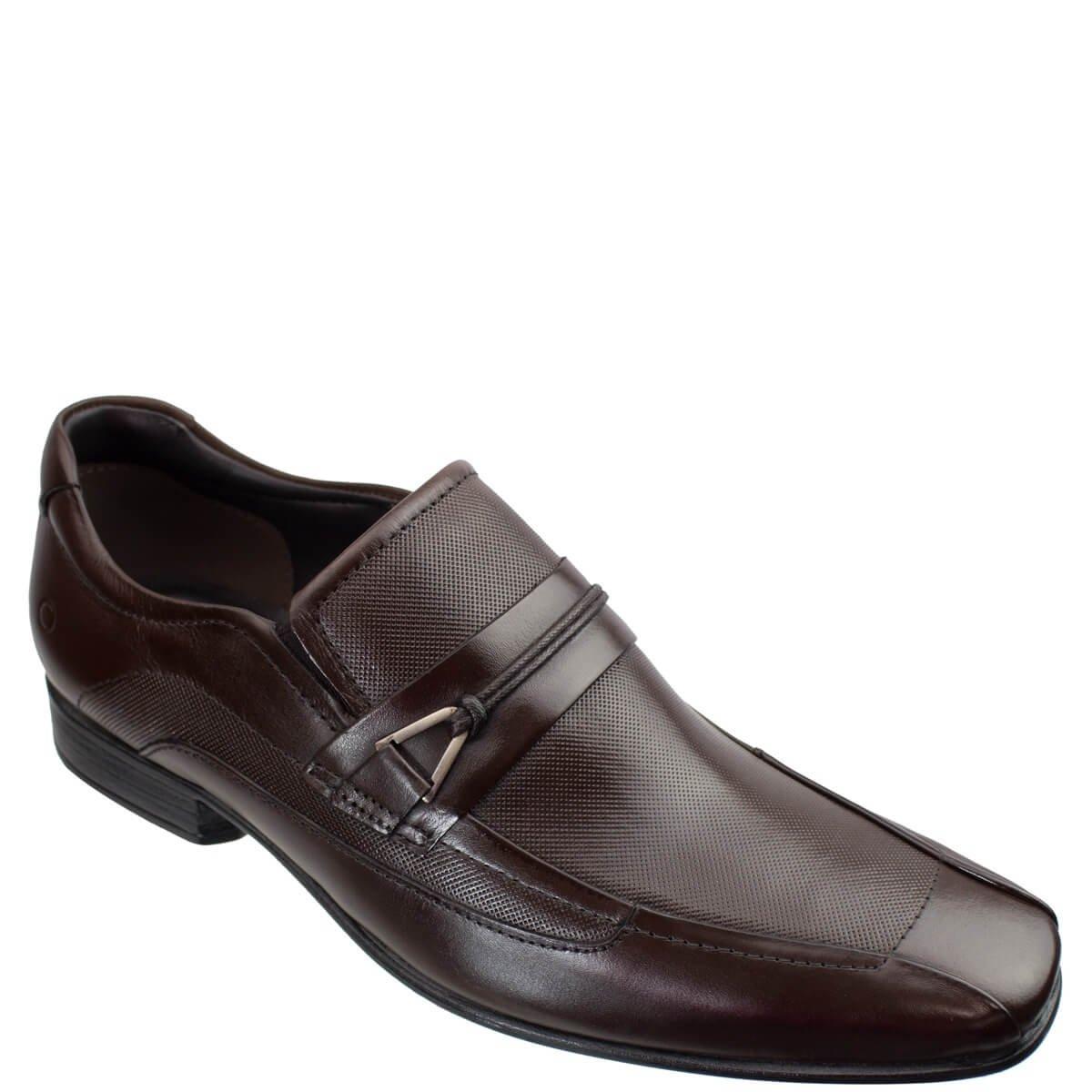 31a8bd200b Sapato Social Masculino Democrata Smart Comfort Clyde 131111-002 - Mahogany