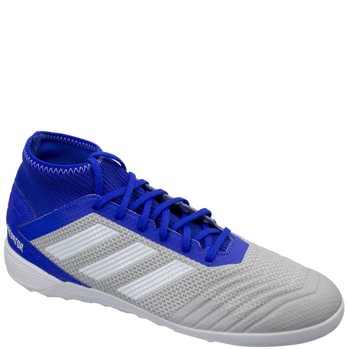 e941df9a2 Chuteira Masculina Futsal Adidas Predator 19.3 D97963 - Cinza/Azul | Bizz  Store