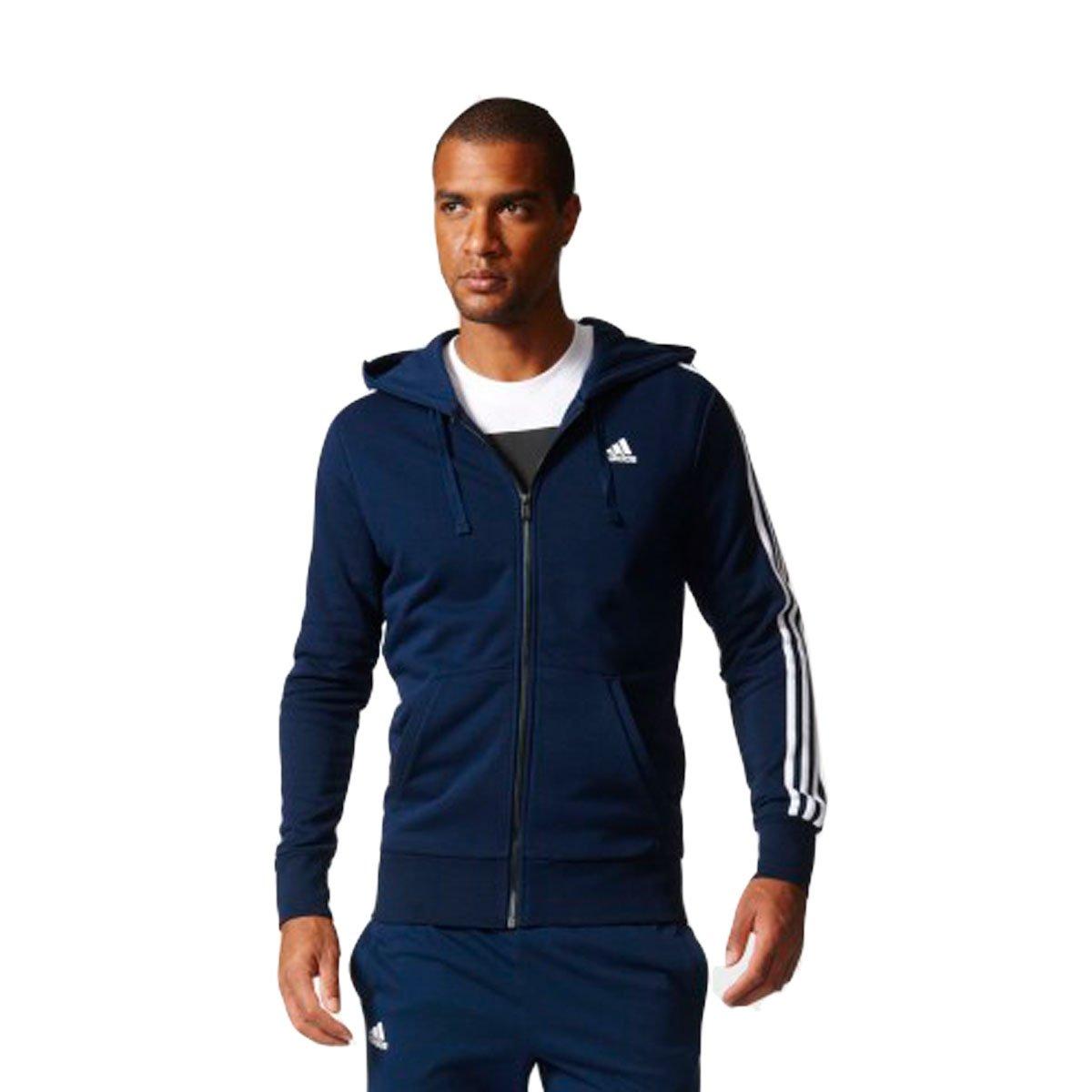 b617ef50061 Bizz Store - Jaqueta Masculina Adidas Essentials 3s FZ Hood