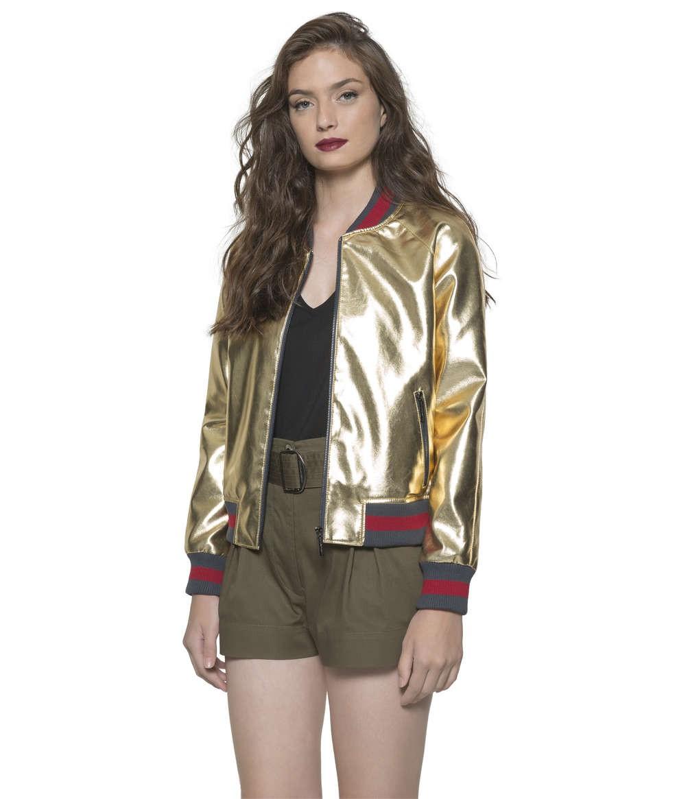 8f5a2e1e5a0 Bizz Store - Jaqueta Bomber Feminina Ellus Second Floor Leather