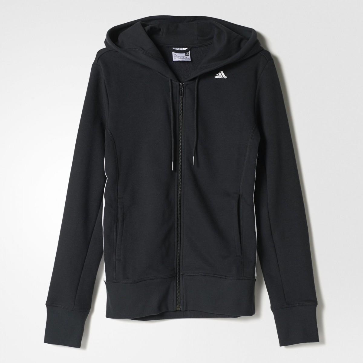 cadf6e333bd Bizz Store - Jaqueta Feminina Adidas ESS Mid Preta Esportiva