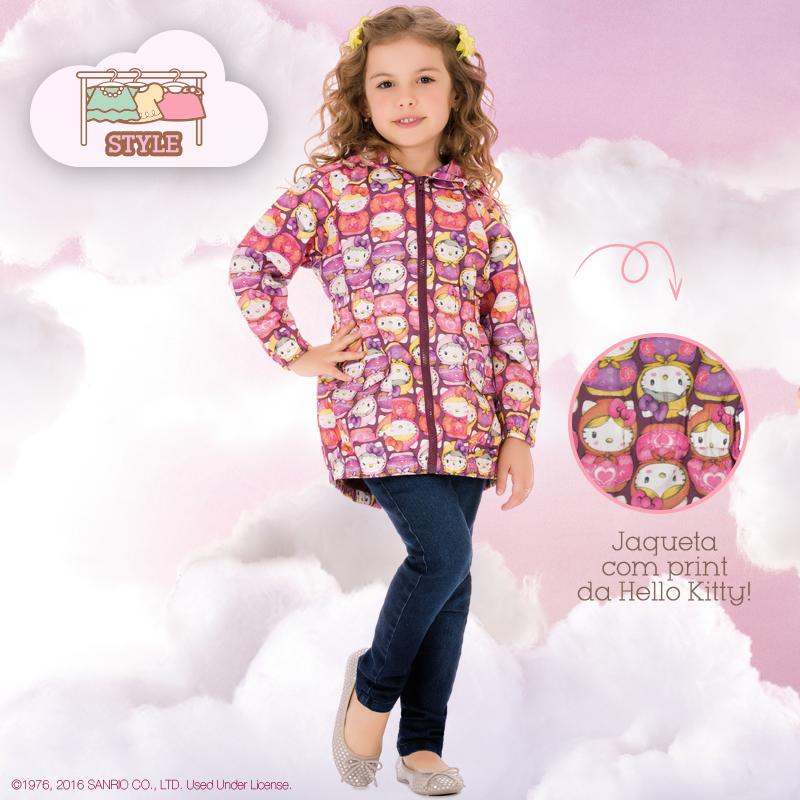 ed1009ecec Bizz Store - Jaqueta Infantil Feminina Hello Kitty Com Capuz