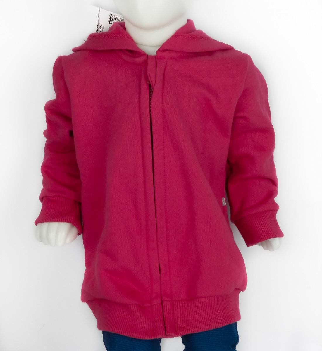 a6ab553bcf Bizz Store - Jaqueta Infantil Feminina Hering Kids Moletom Rosa