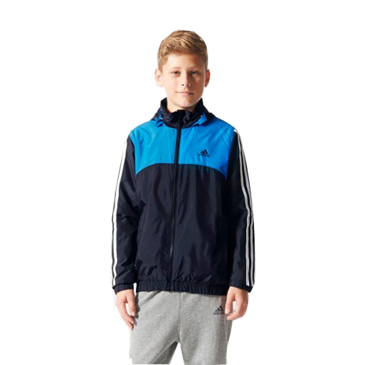 32aa61787c8 Bizz Store - Jaqueta Infantil Masculina Adidas YB ESS WB Cinza
