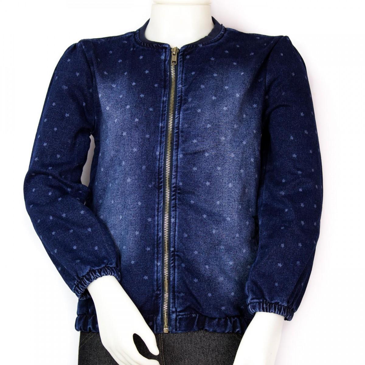 Bizz Store - Jaqueta Jeans Infantil Feminina Hering Kids Poá c718b7701f2