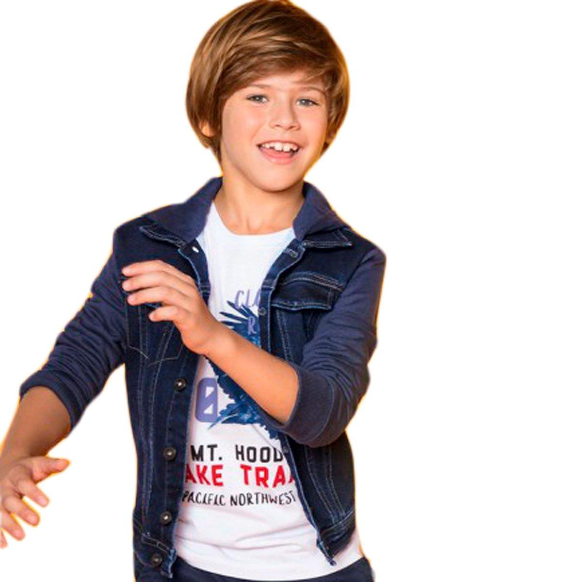 Bizz Store - Jaqueta Moletom Jeans Infantil Menino Hering Kids 0585999bda72