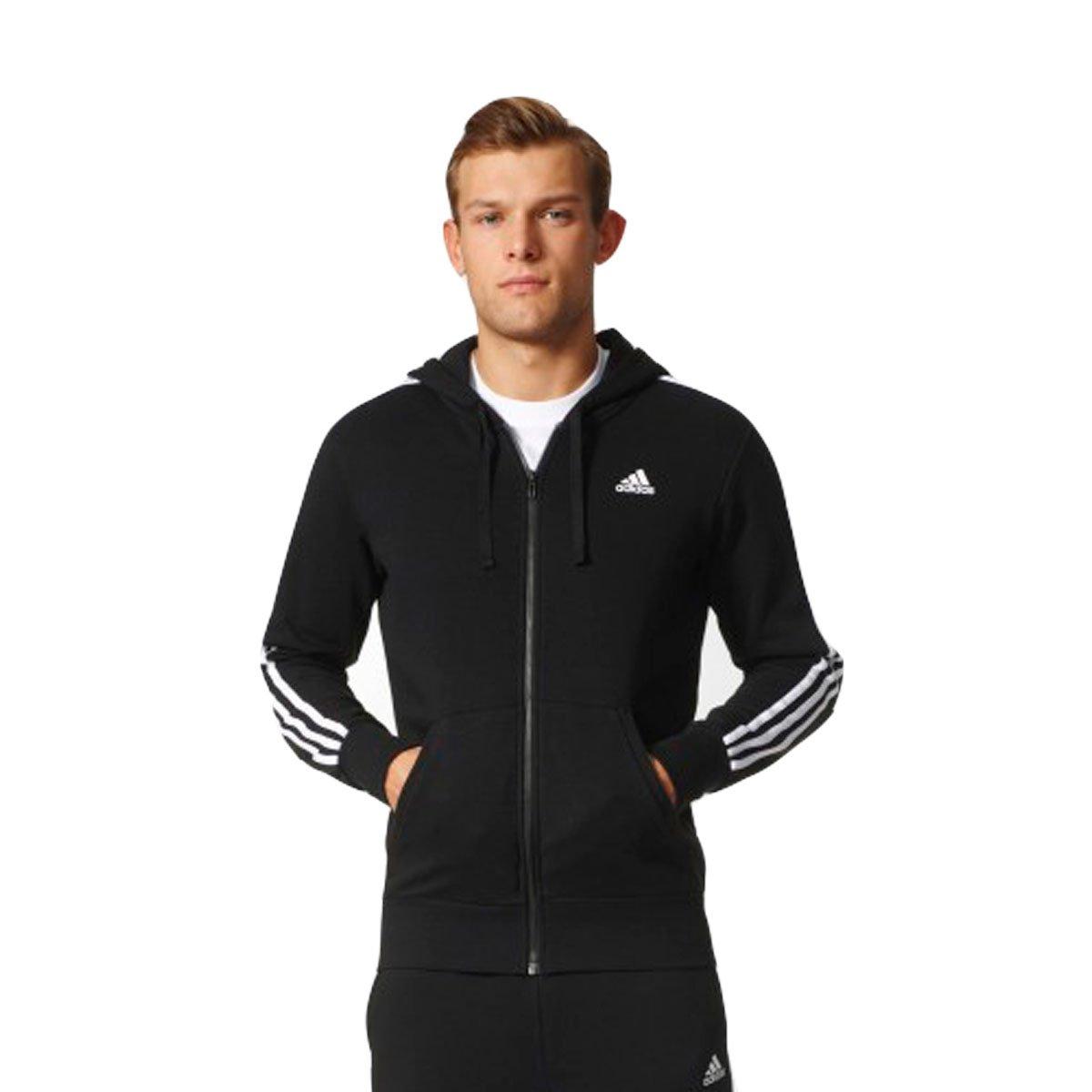3bf620343ed Bizz Store - Jaqueta Masculina Adidas Essentials 3s FZ Hood Preta
