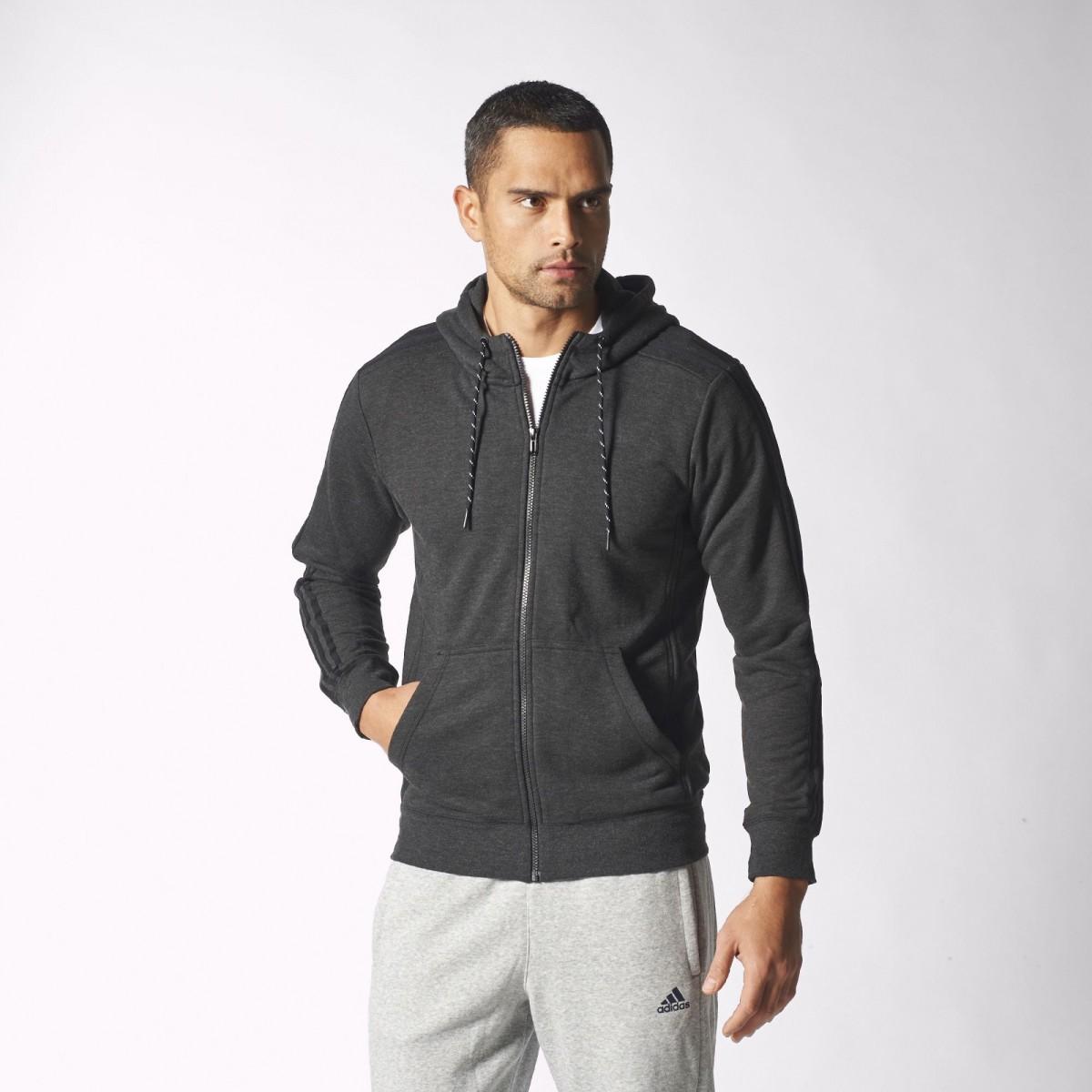 21bd58167 Bizz Store - Jaqueta Masculina Adidas Moletom Com Capuz Ess 3S