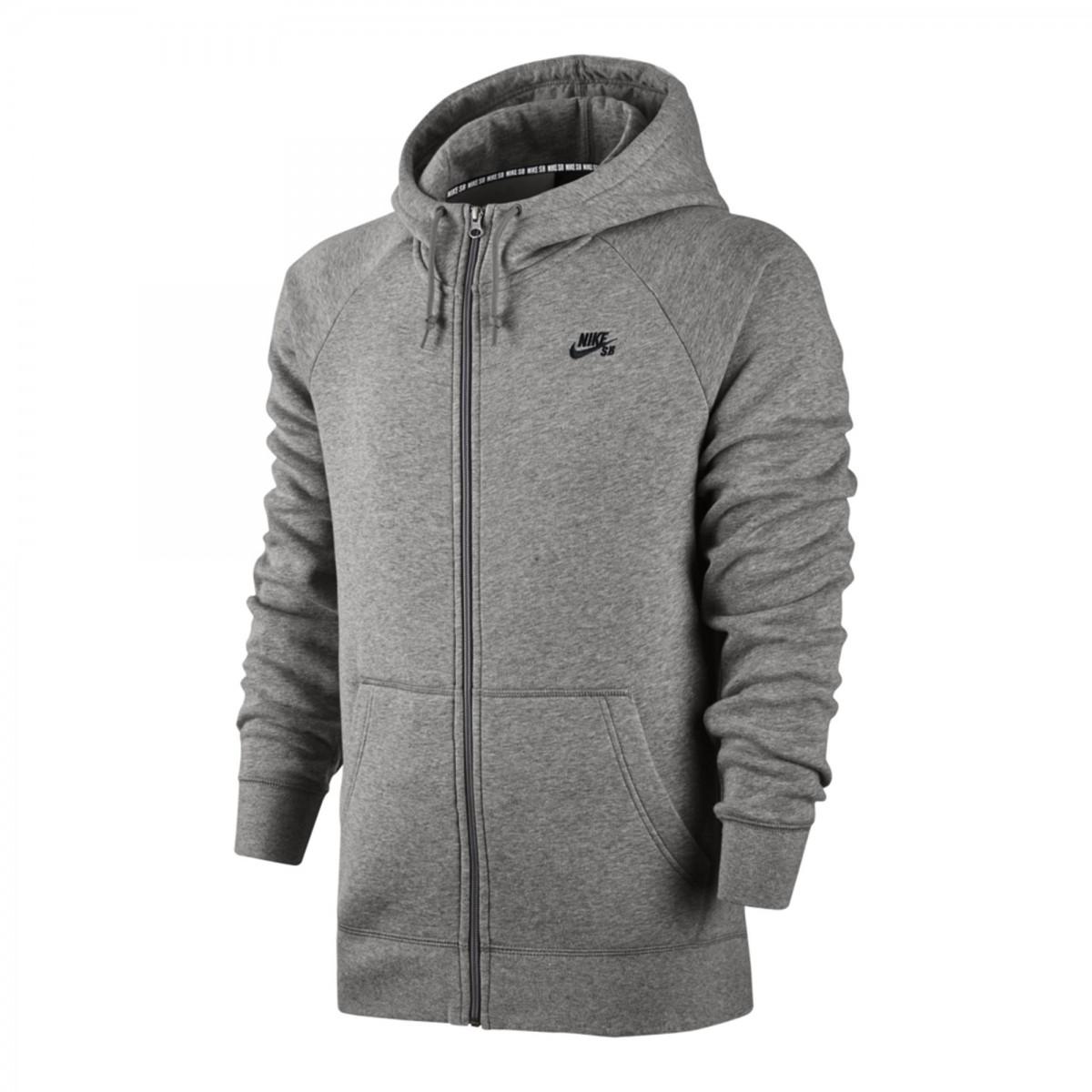 Bizz Store - Jaqueta Masculina Nike SB Icon FZ Hoodie Preta 38012f24c43