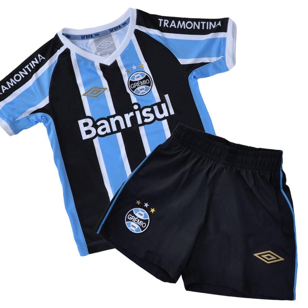 Bizz Store - Kit Umbro Infantil Grêmio Oficial 618807 I 2015 401fd72277c14