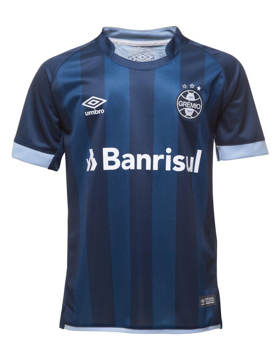 Bizz Store - Camisa Oficial Juvenil Umbro Grêmio 2017 18 8020d59a6cdf2