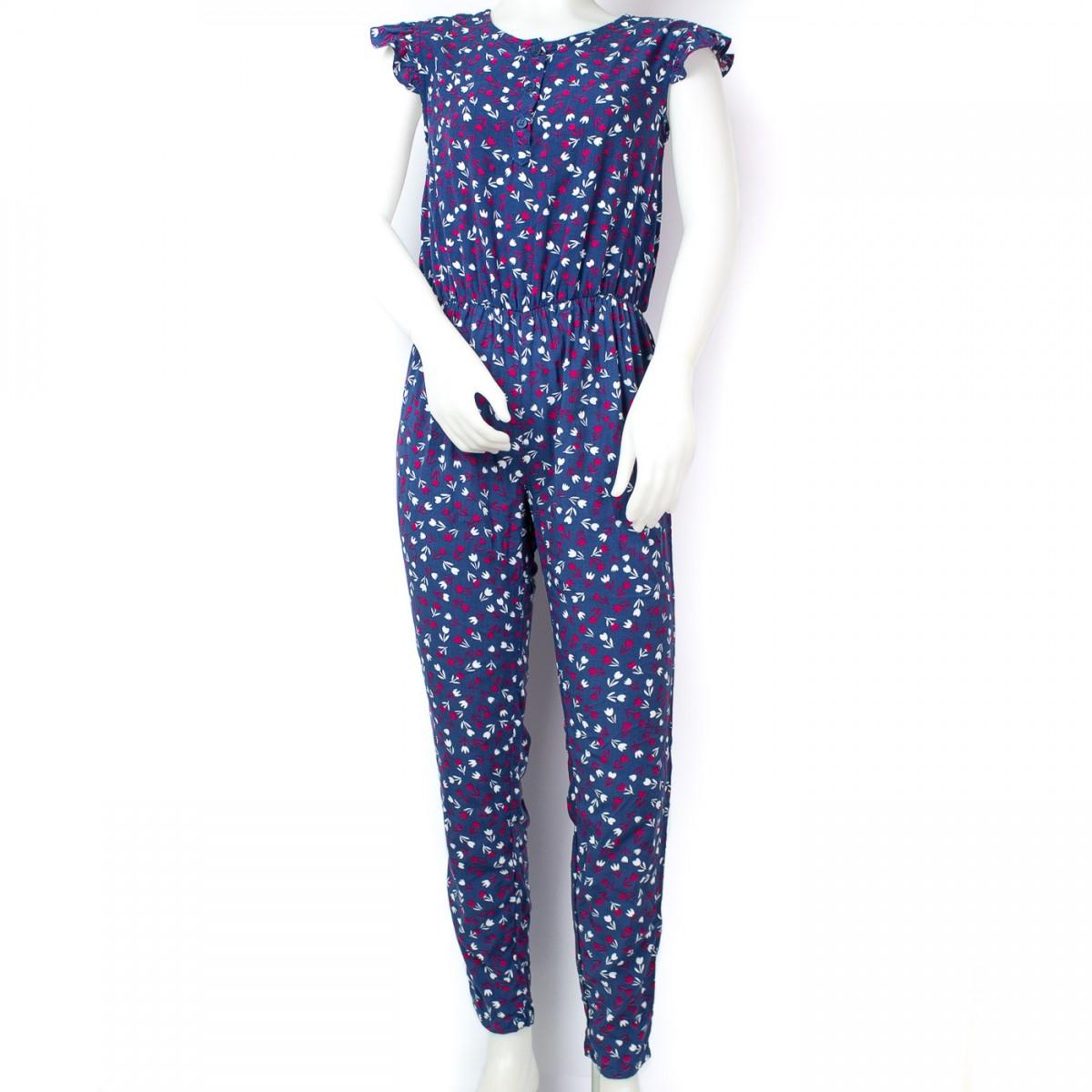 013f96d35f Bizz Store - Macacão Infantil Feminino Hering Kids Verão Azul