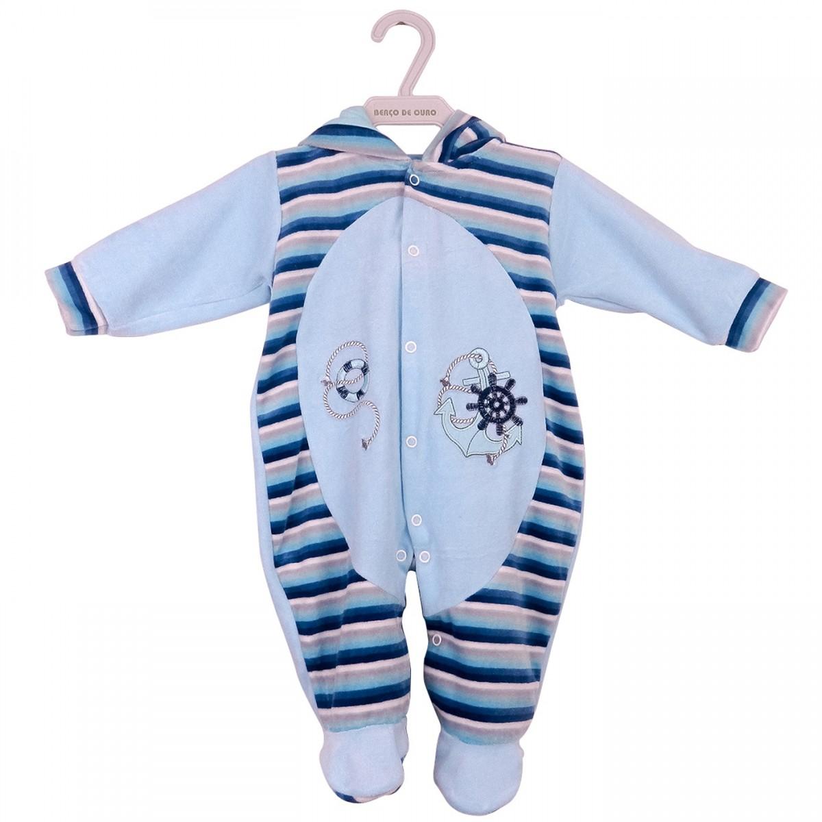 4df605a3b Bizz Store - Macacão Infantil Masculino Berço de Ouro Azul Soft
