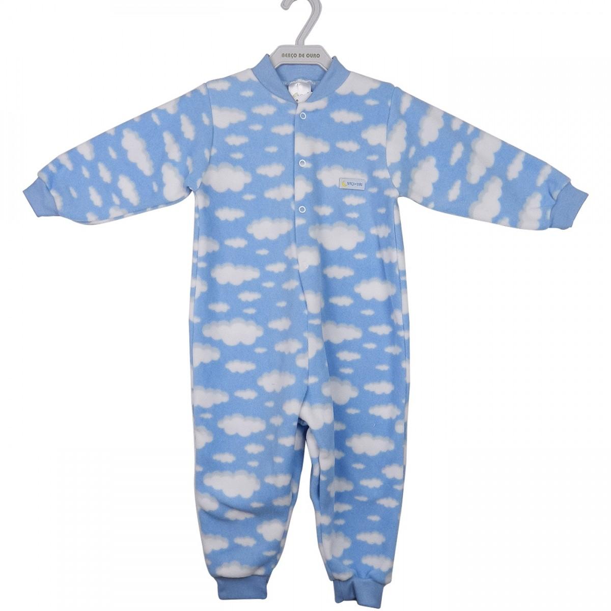 d41667a84 Bizz Store - Macacão Infantil Masculino Berço de Ouro Soft Azul