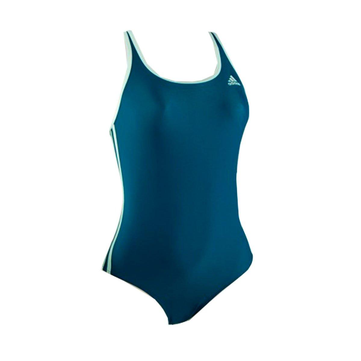Bizz Store - Maiô Feminino Adidas Infinitex I 3S Petróleo d46539393bbf2