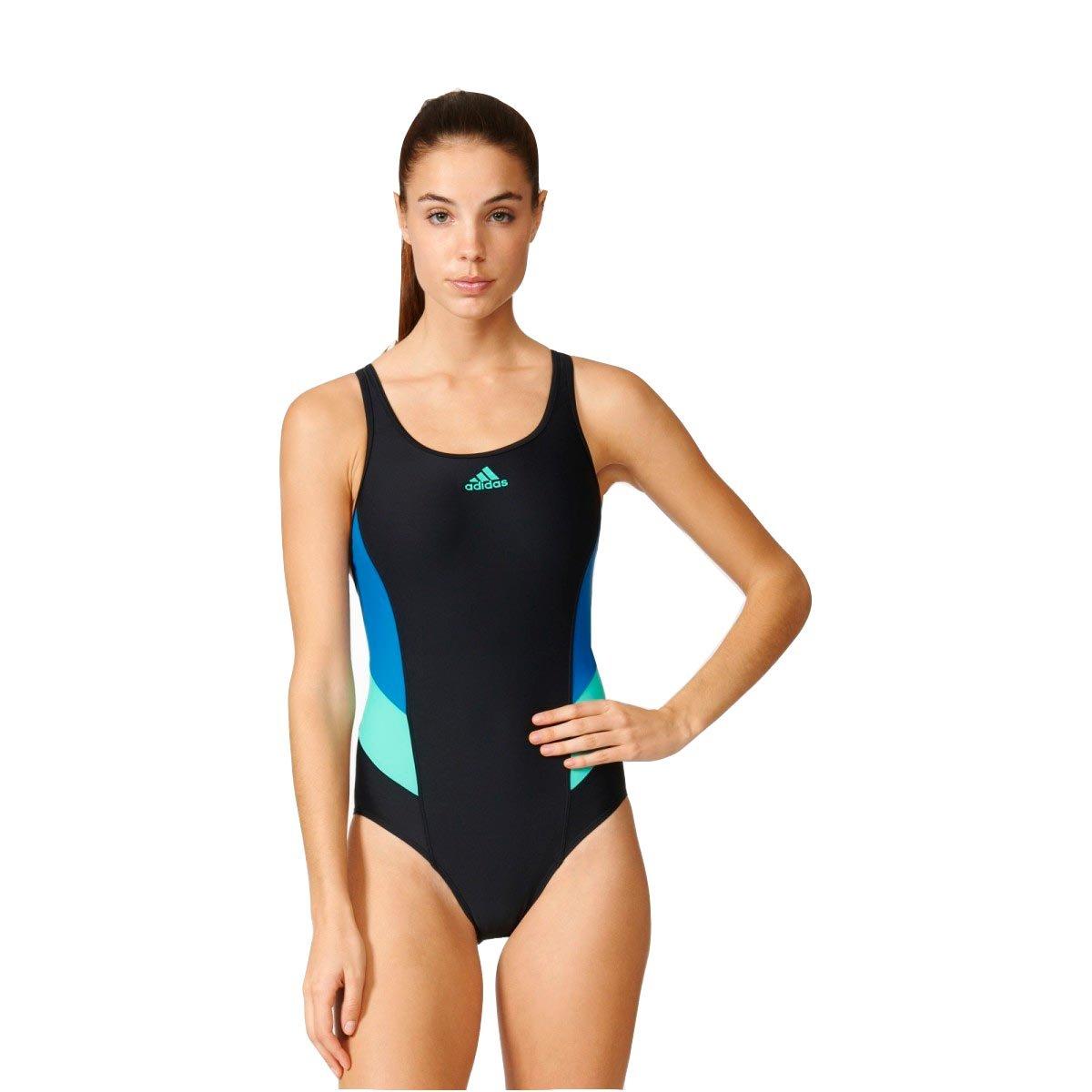 Bizz Store - Maiô Natação Feminino Adidas I INS Preto Azul Verde 5a2be70e0ce