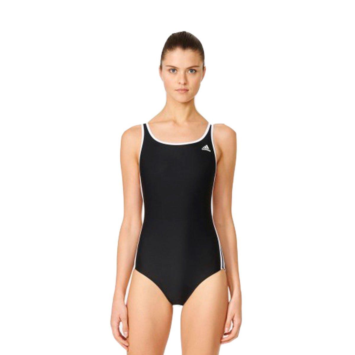Bizz Store - Maiô Feminino Adidas Infinitex I 3S Preto Natação 6ba4937711fab