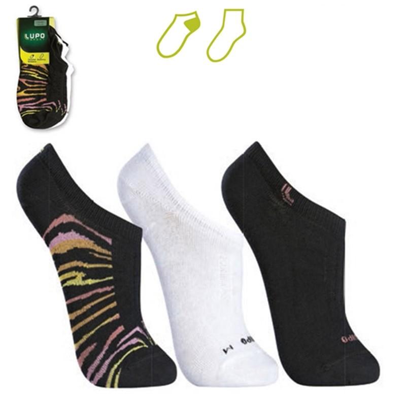 8e261b2075 Bizz Store - Meia Lupo Sapatilha Sport Kit 3 pares Branca Preta
