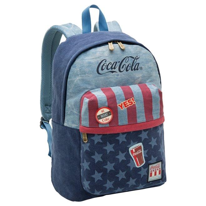 04a955d9f Bizz Store - Mochila Coca-Cola Nation Jeans Porta Notebook