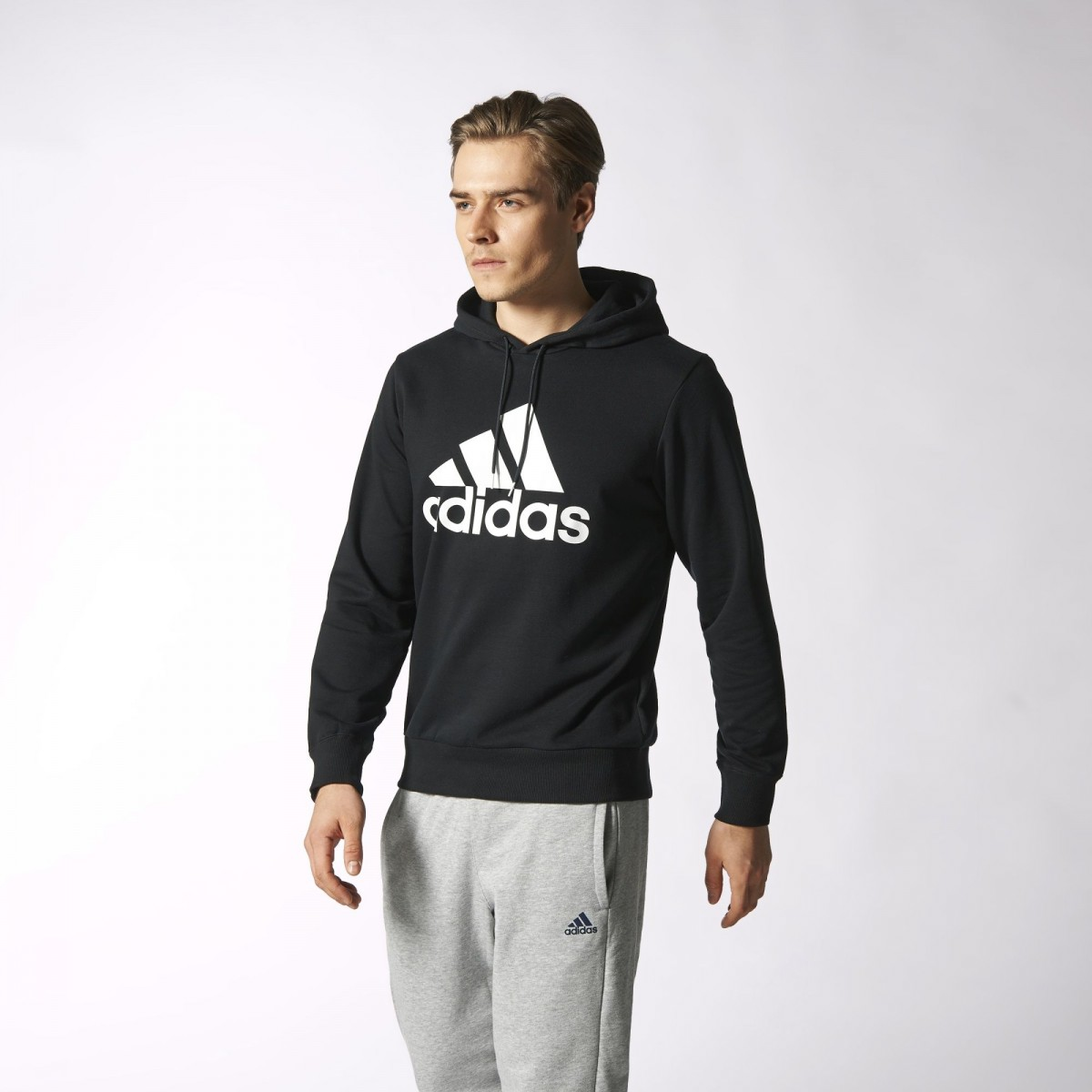 552d13a508e Bizz Store - Moletom Masculino Adidas ESS Logo M Cinza S21335