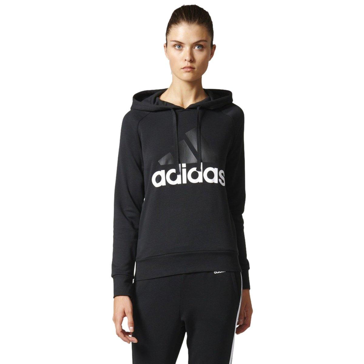 6baa2f62cc2 Bizz Store - Moletom Feminino Adidas Essentials Linear Com Capuz