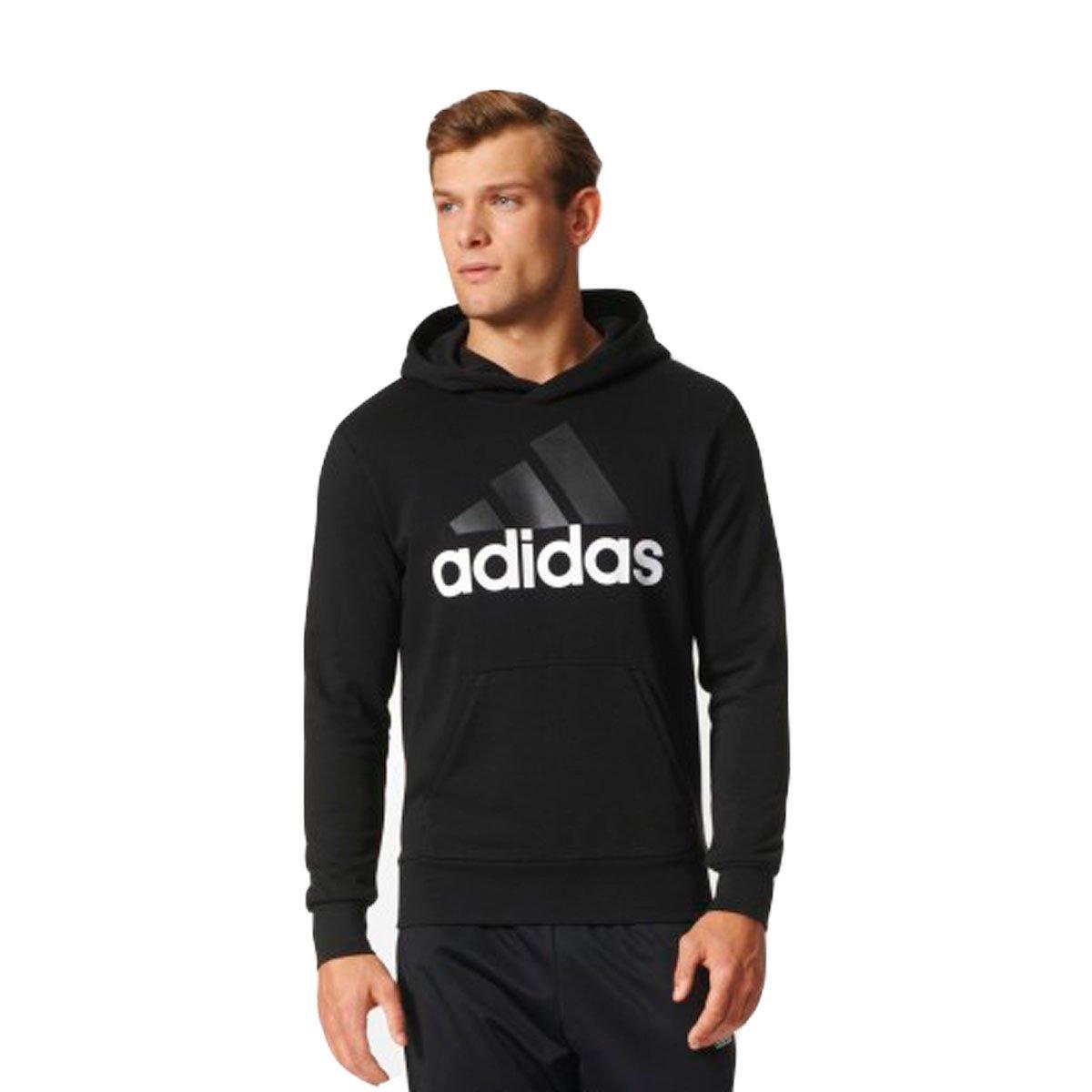 c10d1154c6b Bizz Store - Moletom Masculino Adidas Essentials Linear Preto