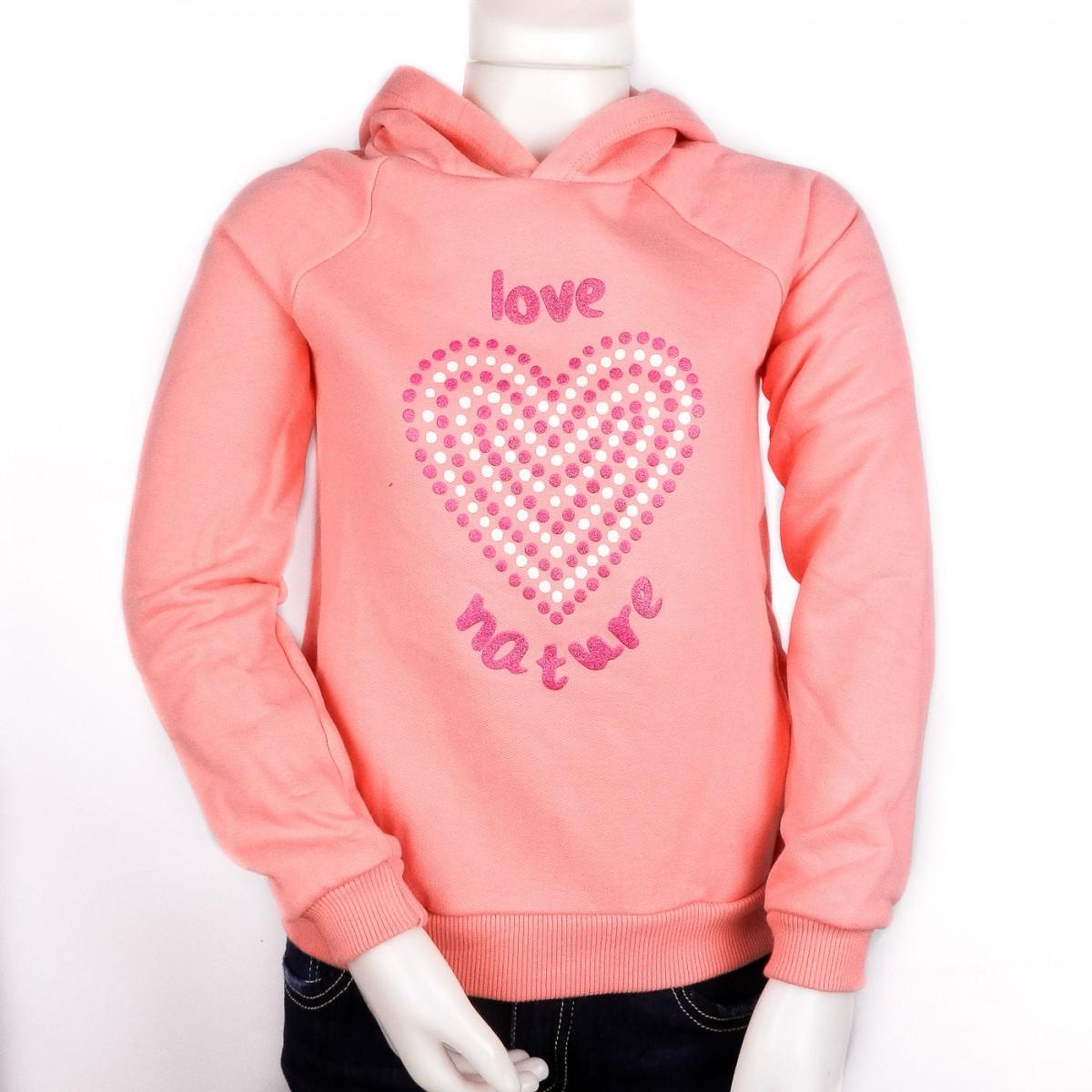 af624ad1e0 Bizz Store - Moletom Infantil Feminino Hering Kids Rosa C  Capuz