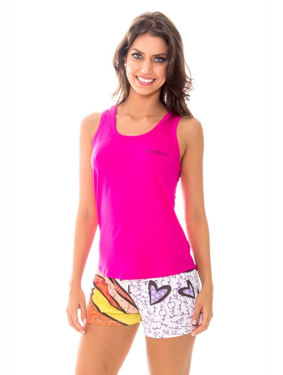 bb65c5f5c Bizz Store - Pijama Feminino Recco Baunilha Viscose Curto Rosa