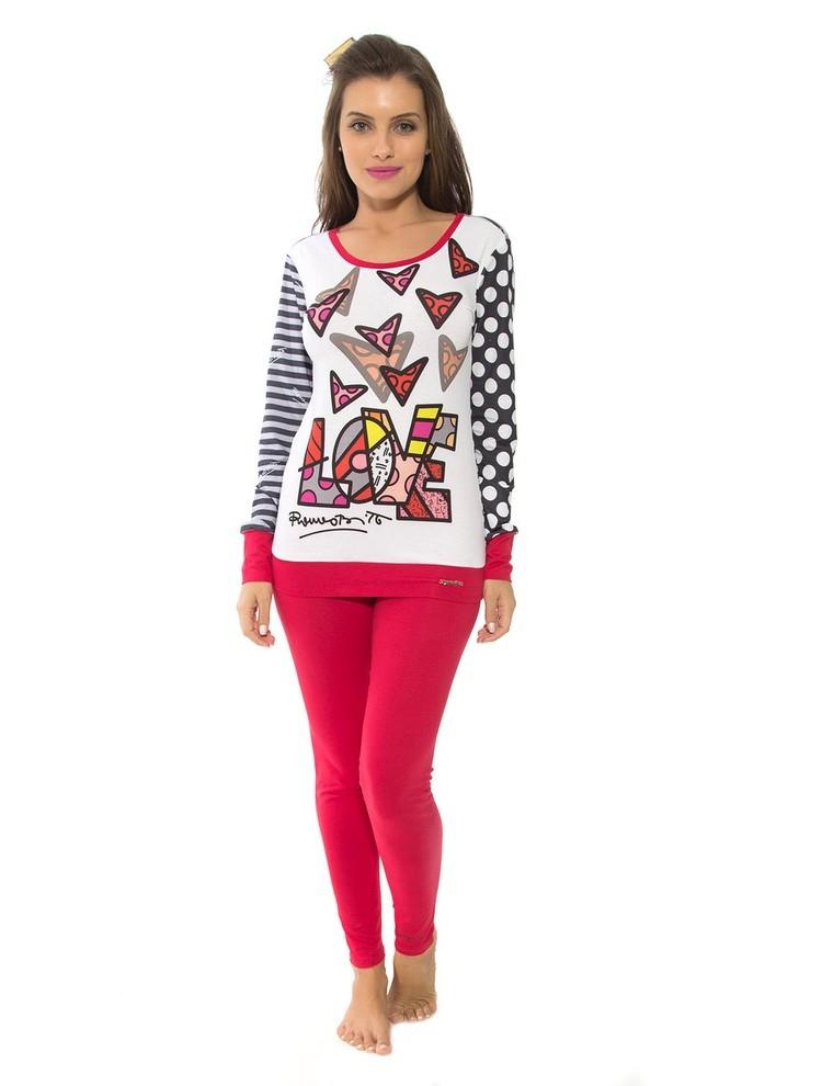 04542d3fc Bizz Store - Pijama Feminino Recco Viscose Romero Britto 09174