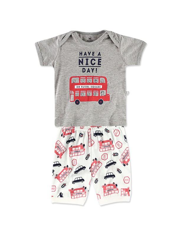 eea9b5d04ffad3 Pijama Curto Infantil Masculino Hering Kids 56pqm2h10