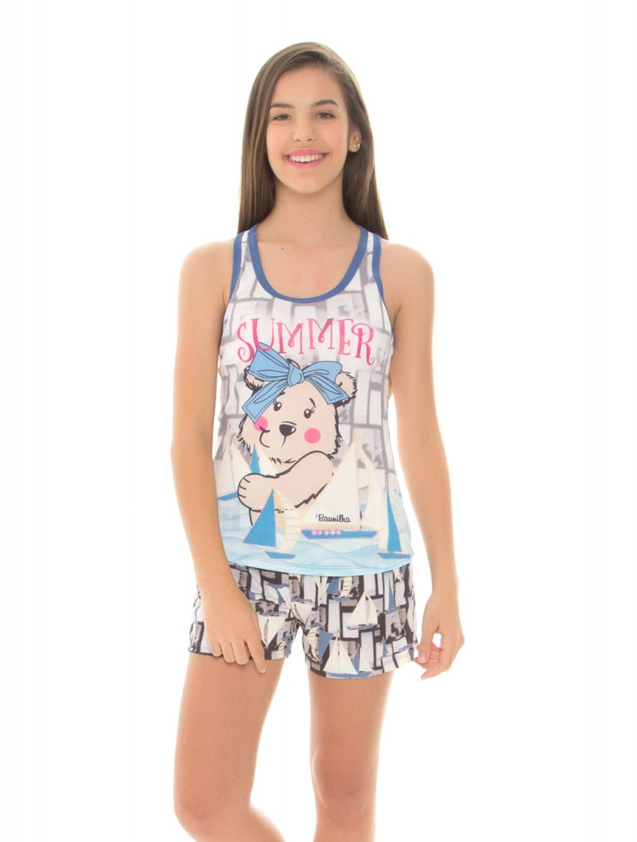 f6e90d6c5 Imagem - Pijama Infantil Feminino Recco Baunilha Microfibra 09567 - 051725